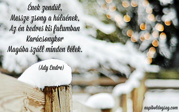 ady endre karácsonyi idézet