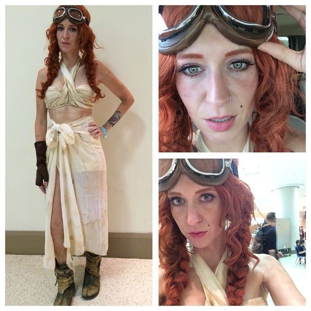 Lil Red Rogue w/ some tips on creating a Mad Max: Fury Road Capable cosplay. I'll include a few tips on how I created this quickly! Wig is Women's Mermaid Wig by California Costumes. #Capable #MadMax #FuryRoad #Cosplay #DIY #CosplayDIY #MadMaxCosplay