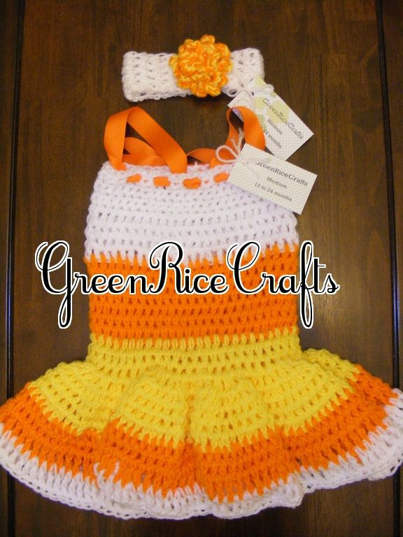 """HALLOWEEN """"Little Boo"""" NB through 5T Princess Candy Corn Costume for Baby/ Toddler Girl. $24.99, via Etsy."""