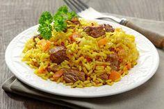 Plov - Russisches Reisgericht mit Fleisch