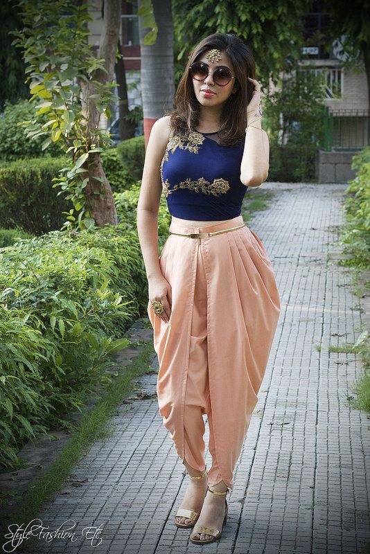 3.-dhoti-pant-and-top-ideas-for-girls.jpg (534×800)