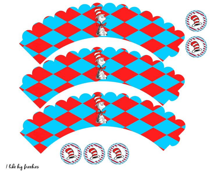 17 best images about dr seuss invites printables on for Giant cupcake liner template