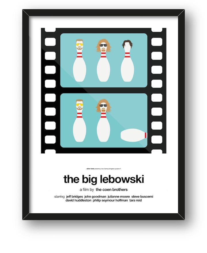 """Sweden-based graphic designer Viktor Hertz (of pictogram movie posters and honest logos) has just released his latest project on Kickstarter. The two-frame pictogram movie poster series takes some of your favorite films, like Star Wars, Forrest Gump and Pulp Fiction, and turns them into clever before and after-style illustrations. """"Think of it as an extremely short film, summarizing the story and visualizing the changes the characters go through,"""" he states. The project started off as a…"""