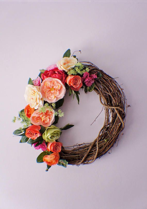 Summer Wreaths Spring Wreath for Front Door Peony and Rose