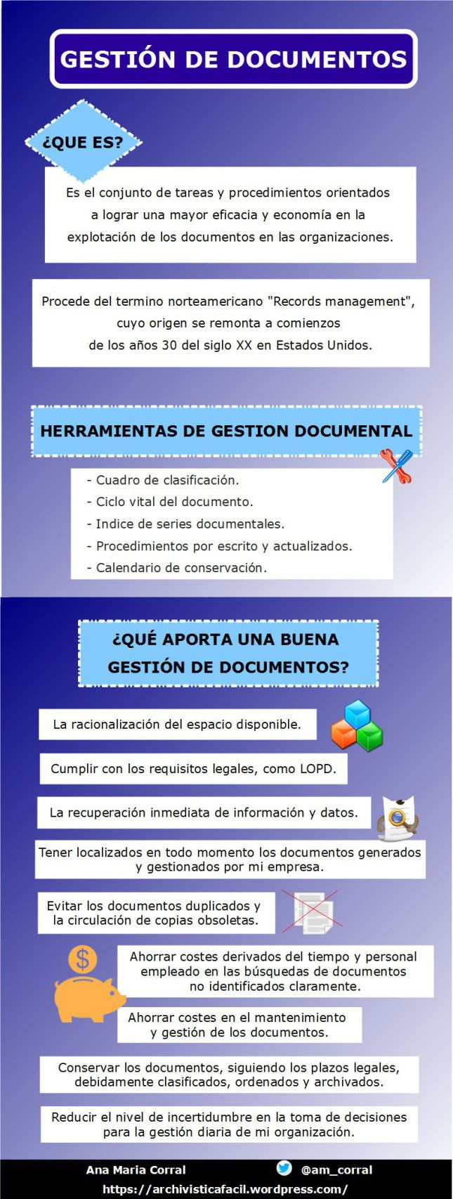 ¿Que beneficios aporta una eficaz gestión de documentos?.    #infografias #gestiondocumental #archivos