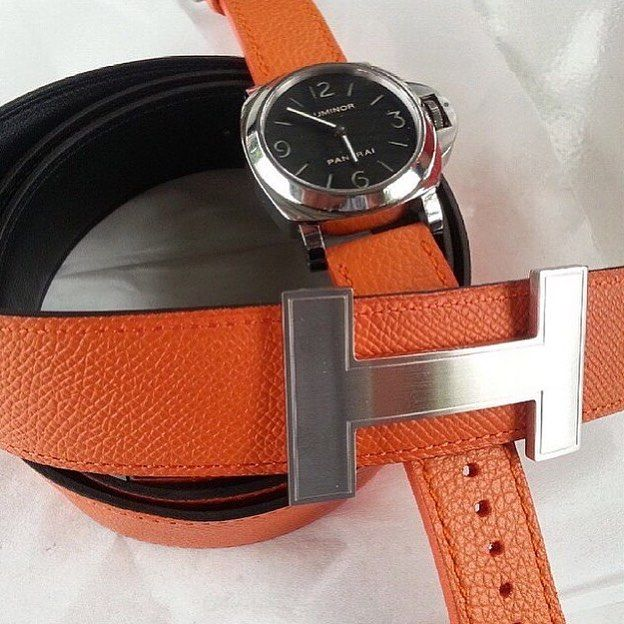 Pulpy Orange on Panerai, price for $100 USD (1 juta) without buckle