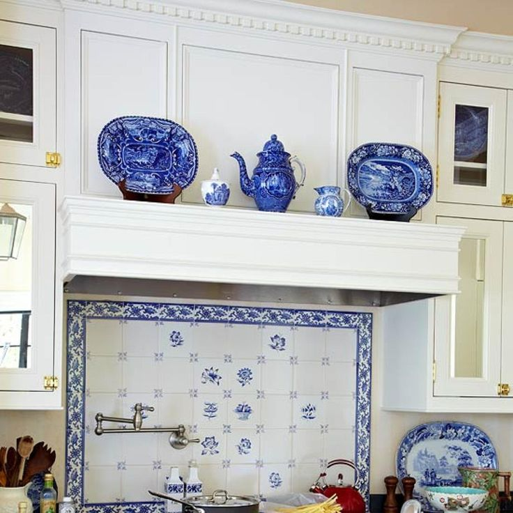 47 Best Blue & White Tiled Kitchen Images On Pinterest