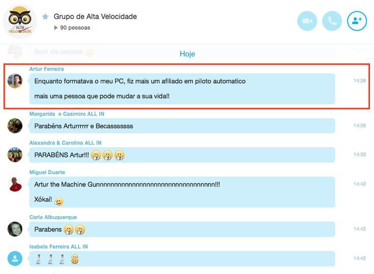 Inicio de mais uma semana e depois de formação no dia de escritório no Sábado, os grupos de trabalho no Skype estão em constante agitação... Modo produção em Alta Velocidade. É assim que comemoramos as vitórias uns dos outros. Junta-te a nós aqui: http://carvalhohelder.com/pages/mudar/