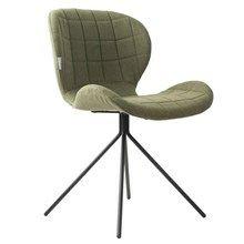 Oh my God - spisebordsstol grøn  Lækker stol med flot ensfarvet stof (100% polyester).  Stolen kan anvendes som både spisestuestol, kontorstol og stand-alone chair.  OMG stolen måler 80 cm til toppen af ryggen. Sædeformat 51 cm bred og 42 cm dyb. Højde til sæde er 47 cm.