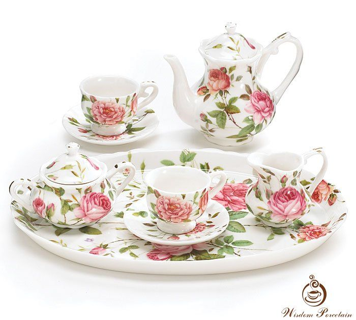 Fine bone china tea set_Wisdom Porcelain