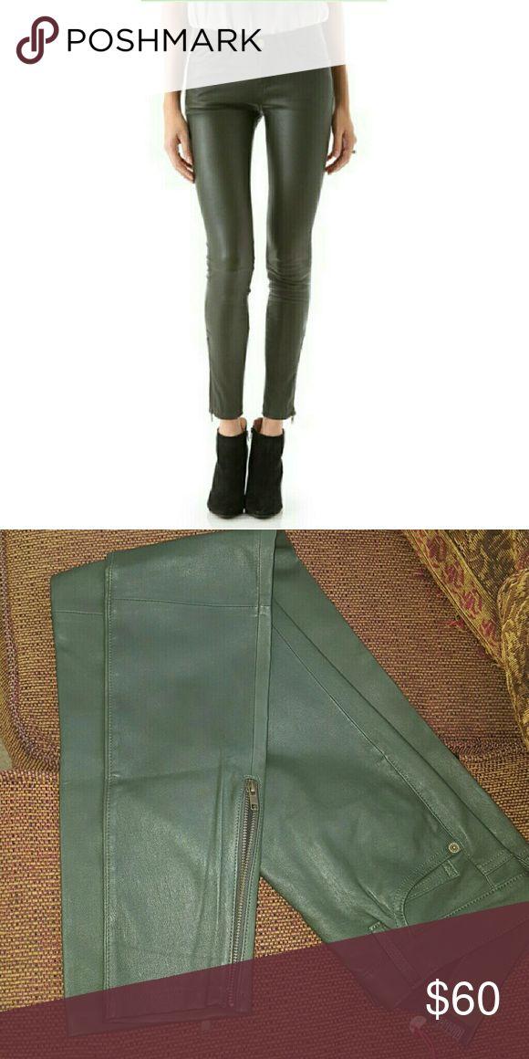 Current Elliot lambskin leather leggins size 25 New real lambskin leather Current/Elliott Pants Skinny