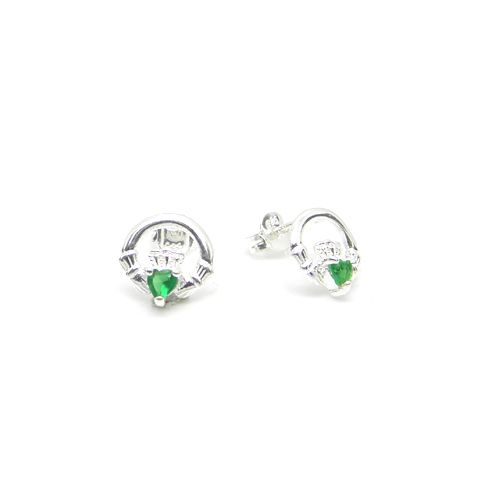 New to Lee Valley Ireland are our Sterling Silver Emerald Claddagh Stud Earrings hand crafted from pure sterling silver. Unique Celtic traditions inspired us to make these gorgeous Irish stud earrings
