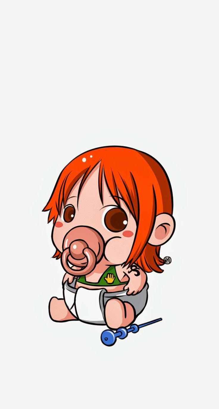 Baby Nami - One Piece iPhone wallpaper @mobile9 #anime #manga