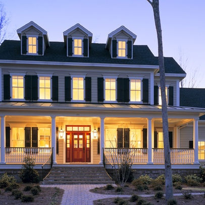 exterior colonial design ideas pictures remodel and decor - Colonial Design Homes