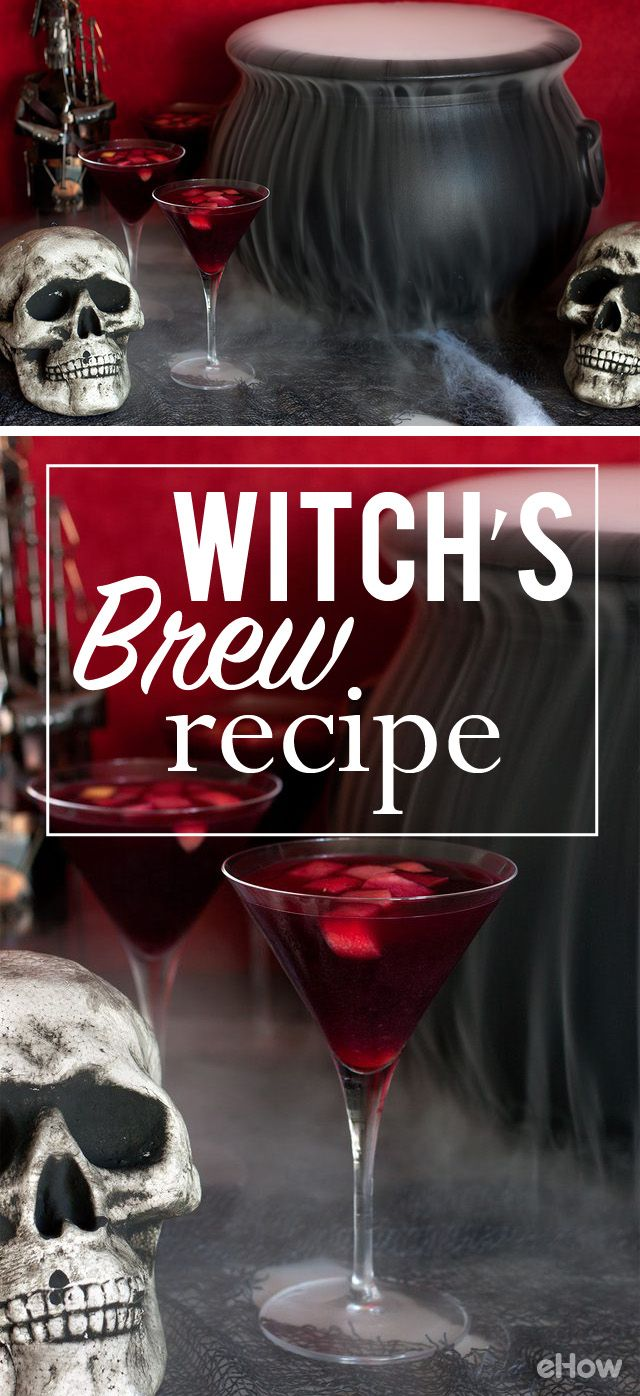 Alakazamakazoo! Make your very own Witch's brew with this awesome recipe for Halloween this year! While the kids enjoy the candy, the adults can indulge in some read wine brew! Get the recipe here: http://www.ehow.com/how_12342897_witchs-brew-recipe.html?utm_source=pinterest.com&utm_medium=referral&utm_content=freestyle&utm_campaign=fanpage