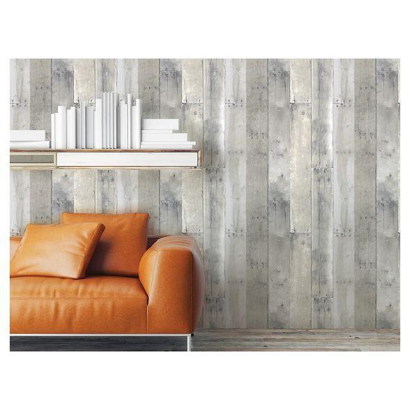 Reclaimed Wood Peel Stick Wallpaper Gray Threshold Peel And Stick Wallpaper Peel And Stick Wood Home