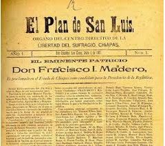 Madero creía en la democracia y en la necesidad de renovar el gobierno con apego a las leyes.Pero el éxito de su campaña hizo que Díaz lo viera como un peligro poco antes de las elecciones fue detenido en Monterrey y encarcelado en San Luis Potosí. Allí supo que Díaz había vuelto a reelegirse. En octubre de 1910, escapo a los estados unidos, donde publico el plan de san Luis Potosí. Madero denunciaba la la ilegalidad de las elecciones y desconocía a Porfirio Díaz como presidente.