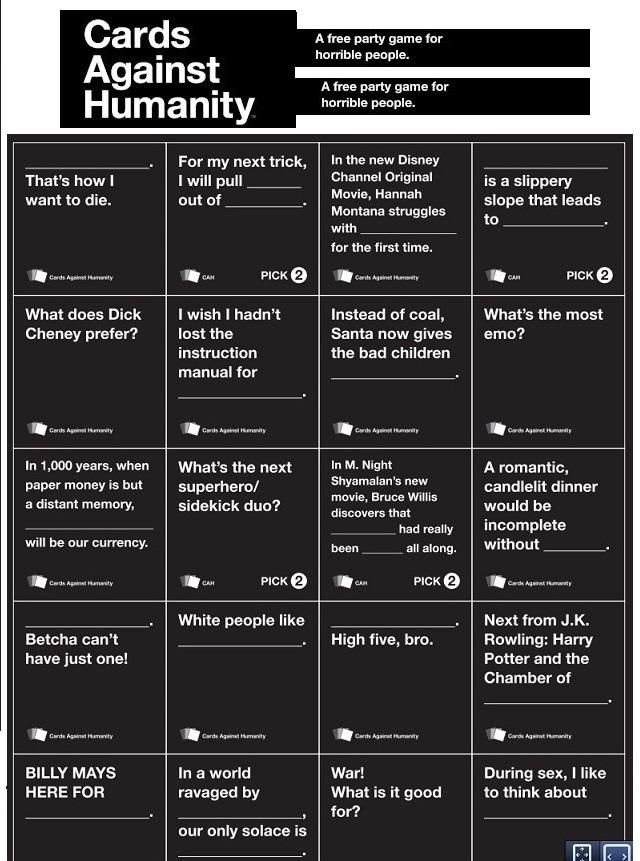 images  cah  pinterest cards  humanity  house  cards  fans