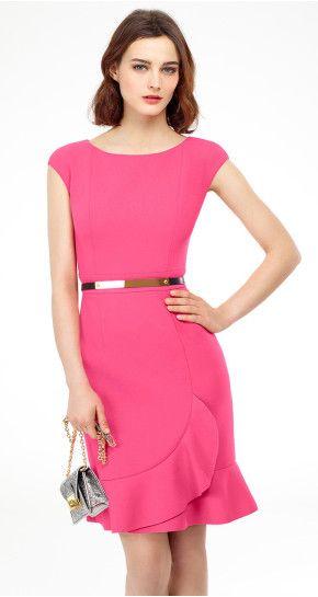 Wool tricotine dress