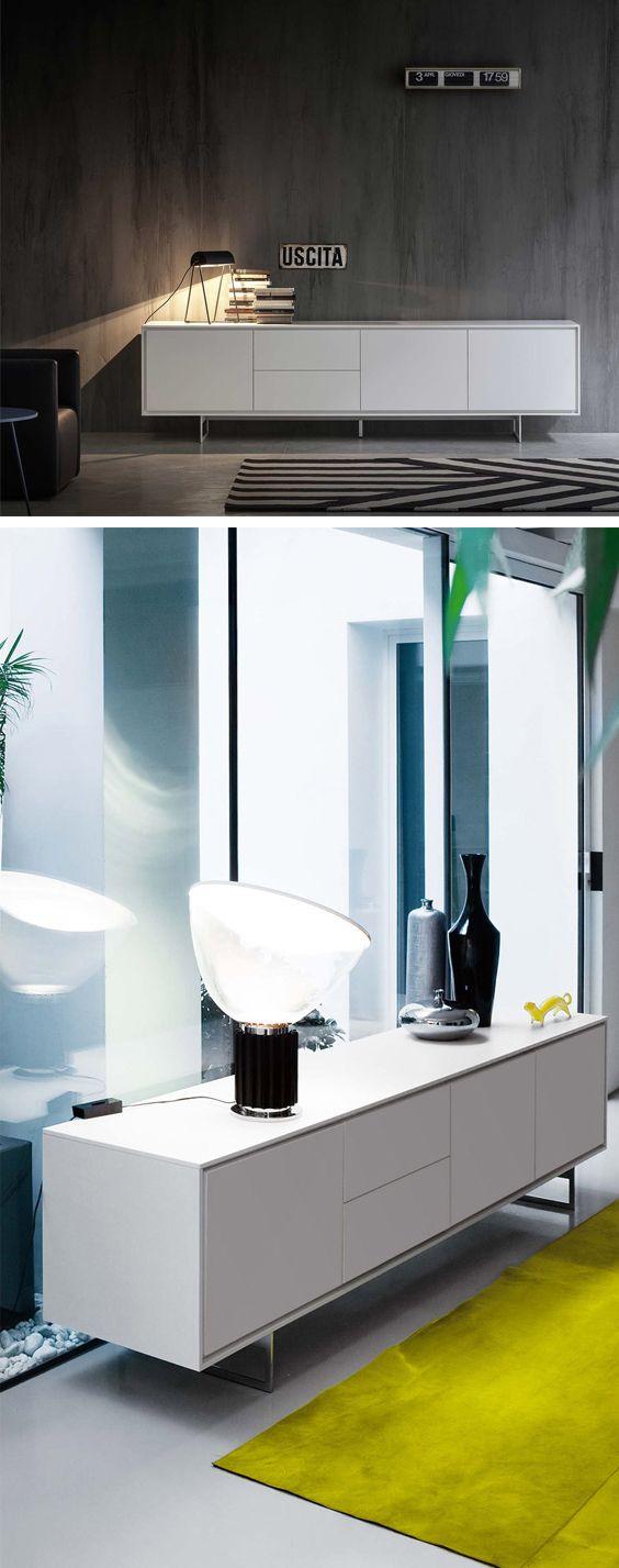 Das Geradlinige Design Des Schatten Sideboard Von Novamobili Macht Ihn Zum  Schicken Wohnbegleiter Für Jeden Raum