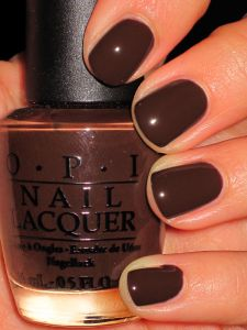 """OPI """"Suzi Loves Cowboys"""" from the Texas Collection. Chocolate nails for fall!"""