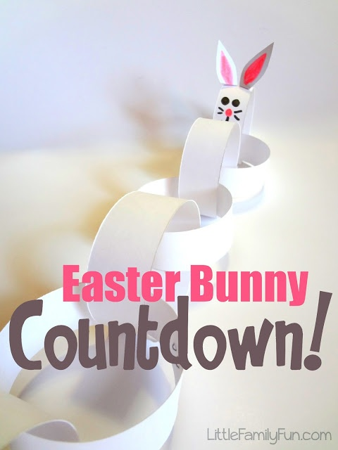 Fun way to countdown the days until Easter! Cute and so simple to make!
