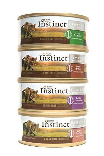 Nature's Variety Instinct Limited Ingredient Diet Wet Cat Food Variety Box - 4 Flavors (Duck, Rabbit, Turkey,