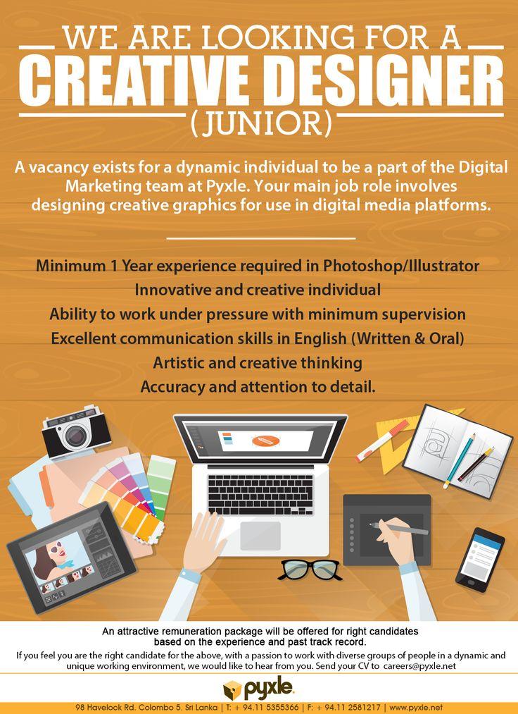 Junior Creative Designer At Pyxle Pvt Limited Career First