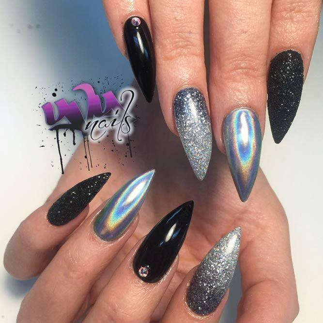 27 Furchtlose Kombinationen mit schwarzen Stiletto-Nägeln – Nails