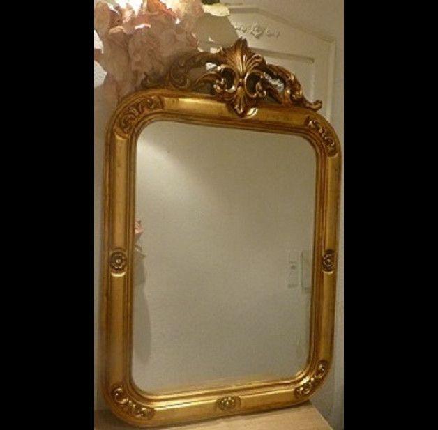 Vintage Spiegel - Vintage Barock Muschel-Spiegel shabby Gold - ein Designerstück von CoteDazur-4 bei DaWanda