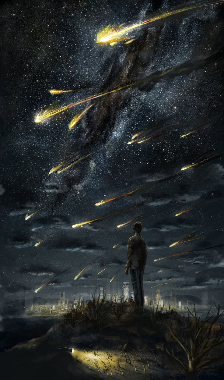 Seems like it's just a guy watching meteors right? NOT IF YOU'RE IN THE SUPERNATURAL FANDOM. Hehe at first I thought it was fan art an I was like what character is that supposed to be