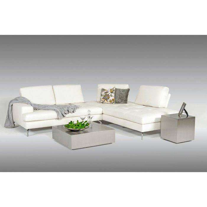 Estro Salotti Voyager Modern White Leather Sectional Sofa Part 73