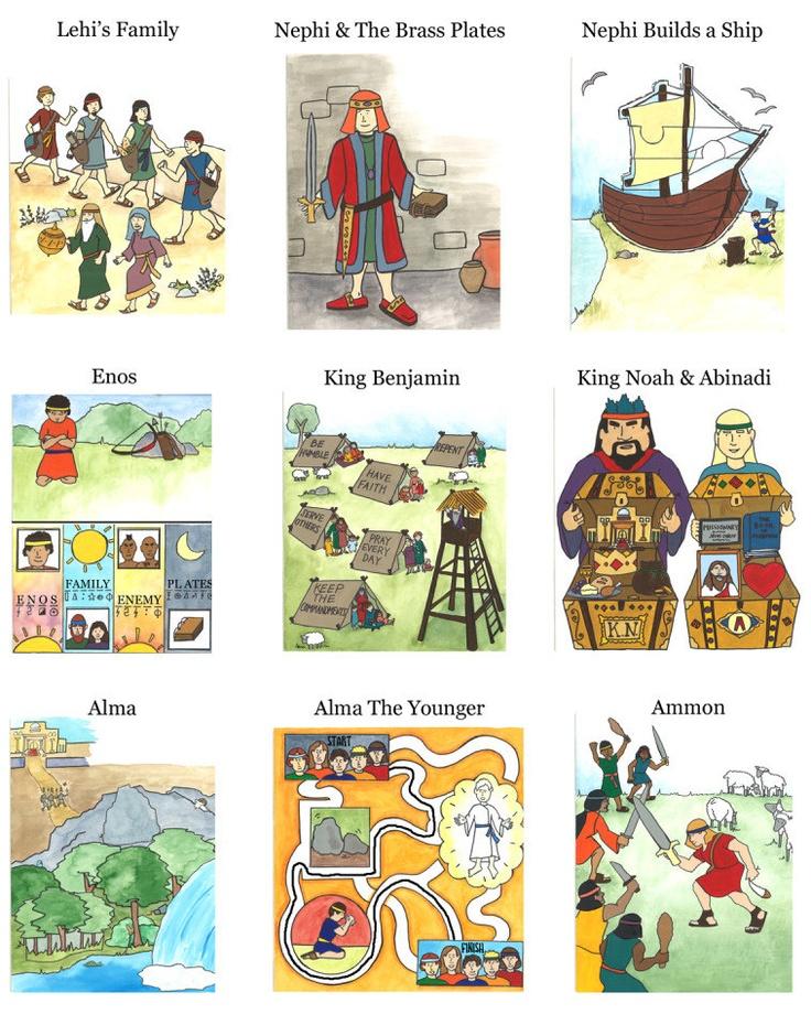 Interactive Book of Mormon for Children: Volume 1 - - Kids Book of Mormon Stories PDF. $9.99, via Etsy.