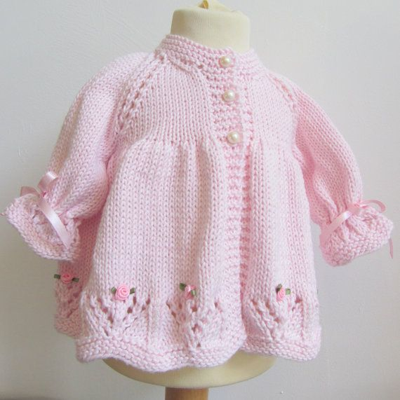 Hand Knit Cotton Baby Set by jayceeoriginals on Etsy