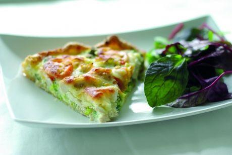 Grov tærte med broccoli og kylling