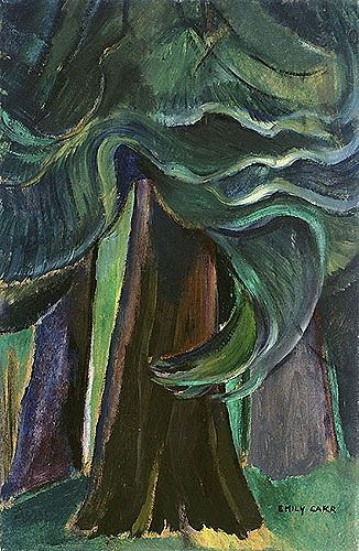 "poboh: "" In a Wood, 1945, Emily Carr. Canadian Expressionist Painter (1871 - 1945) """
