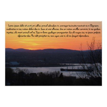 Sunset Landscape Poster - professional gifts custom personal diy