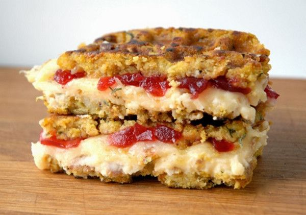 Munster, Mashed Potatoes & Cranberry Stuffing Grilled Cheese - Recipes That Will Make You Thankful for Thanksgiving Leftovers - Photos