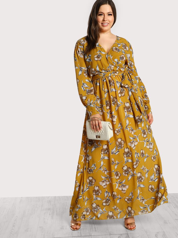 Shop Floral Print Long Sleeve Maxi Dress online. SheIn offers Floral Print Long Sleeve Maxi Dress & more to fit your fashionable needs.