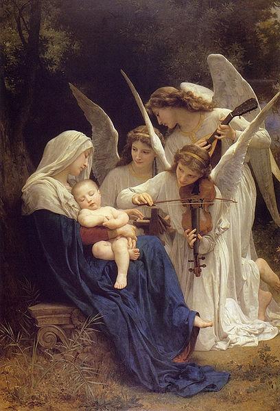 Luz y Oscuridad en mi...Song of the Angels, de William Bouguereau, excluyendo connotaciones religiosas, por supuesto, es un cuadro preciosísimo.