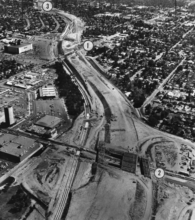 They Moved Mountains And People To Build L A S Freeways San