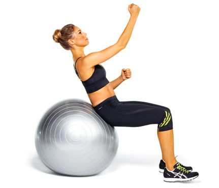 Flat Abs Fast: Workouts: Self.com:Shhhh...it's a stability ball. Try these six moves and you'll have a tone tummy in no time.