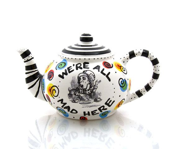 Mad Hatter Teapot Alice in Wonderland Tea party by LennyMud, $40.00