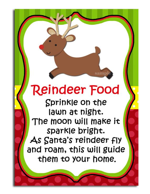 reindeer food crafts | Reindeer Food Printable Labels - Instant Download
