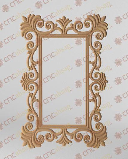 Cnc Kesim Klasik Mdf Ayna Çerçevesi - Cnc Cutting Classic Mirror Frame www.cncahsap.net