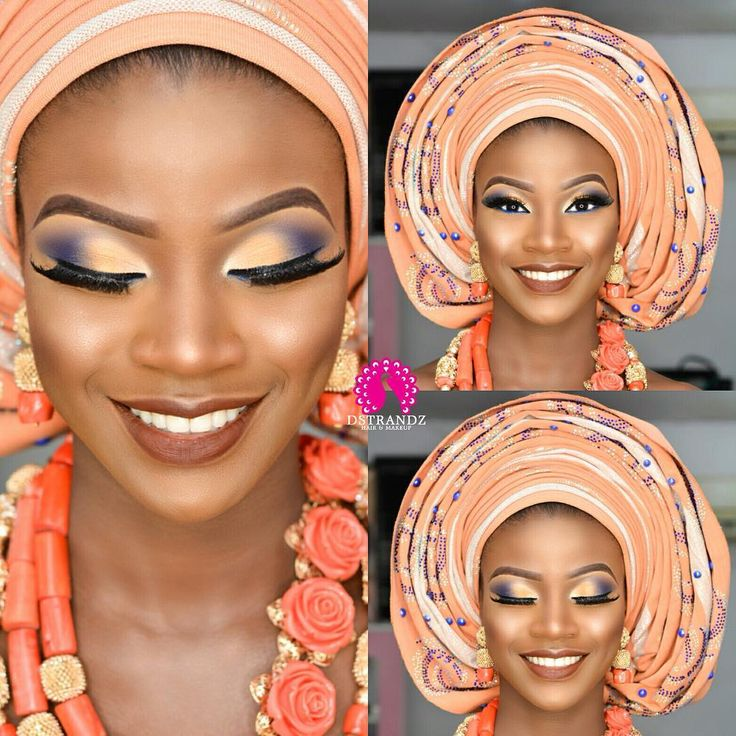 """6,212 Likes, 19 Comments - Foremost Wedding Page ❤️ (@weddingdigestnaija) on Instagram: """"For the Love of Peach     Too cute   Makeup and gele by @dstrandz    #WeddingDigest #WeddingDigestNaija"""""""