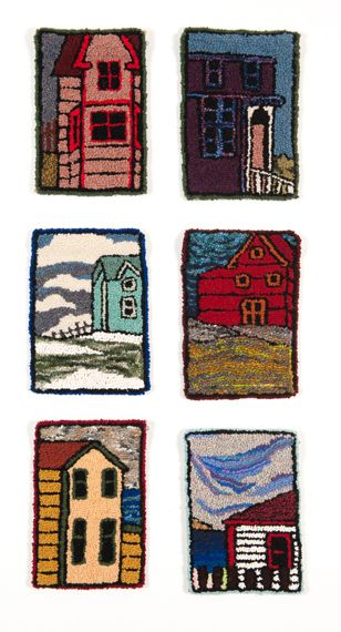 Hooked Rug series, Black Windows - Sarah Feltham  Now, here is something we should learn to do.