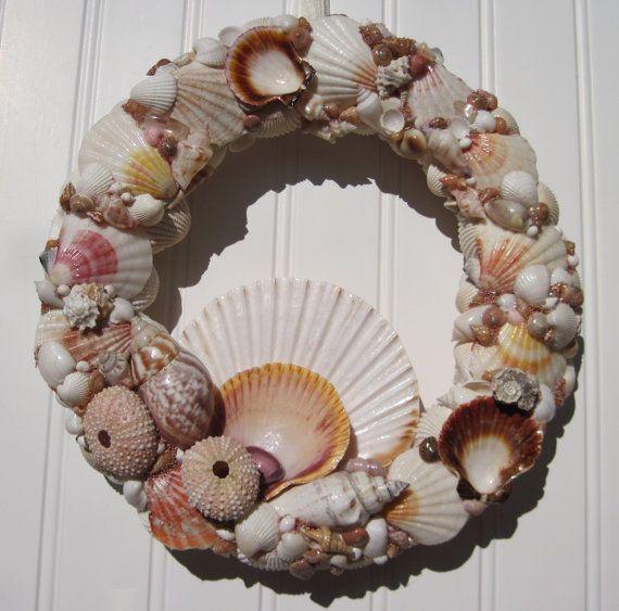 Pecten Seashell Wreath by Shellestial on Etsy, $70.00