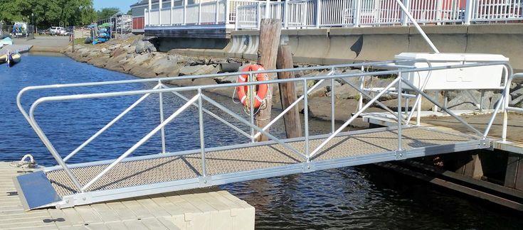 Aluminum gangways ramps decking options dock