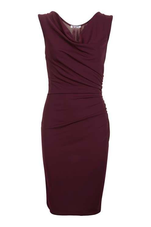 **Gerafftes Kleid mit V-Ausschnitt von Wal G